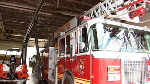 Emergency crews responded to a fire at a two-storey building on Royal Road Saturday evening.