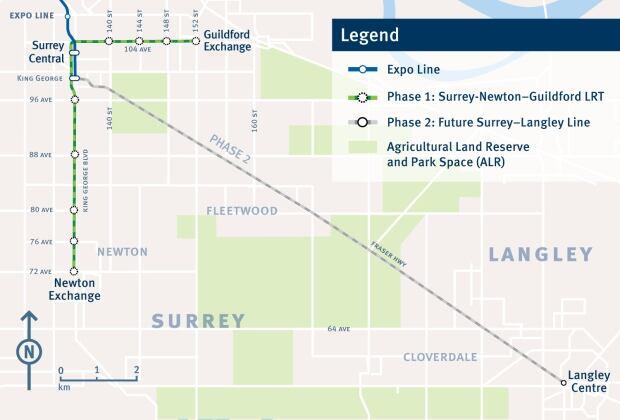 Surrey LRT Map