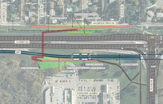 Glenmore Landing Pedestrian Overpass option 1