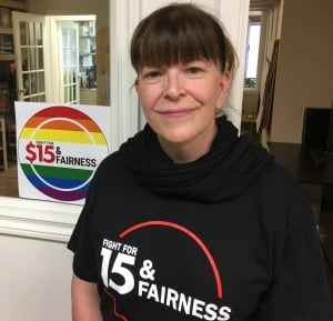 Pam Frache - $15 minimum wage