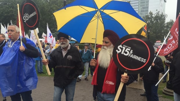 As Ontario's minimum wage rose to $11.40 an hour on Oct. 1 last year, thousands gathered at a rally at Queen's Park to call for raising it to $15.