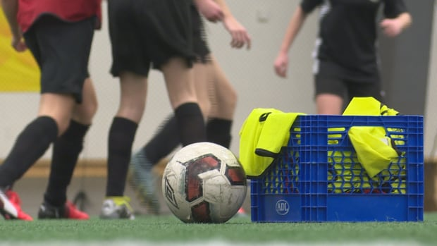 A provincial group of under 15 girls trained with a coach from the Vancouver Whitecaps Academy Centre on Wednesday Night in Stratford.