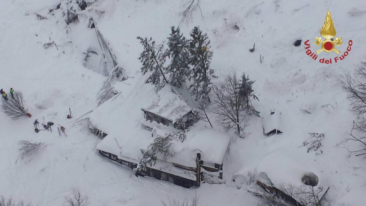Avalanche buries Italian hotel, up to 30 missing