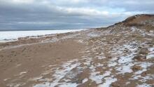 Brackley Beach in winter