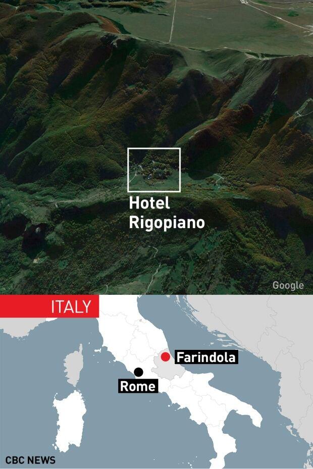GFX WEB MAP Hotel Rigopiano Italy Avalanche