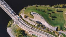 NCC aerial of Nepean Point