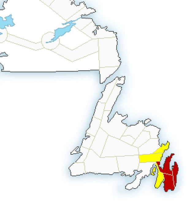 Blizzard warnings and winter storm watches issued by Environment Canada on Jan. 19
