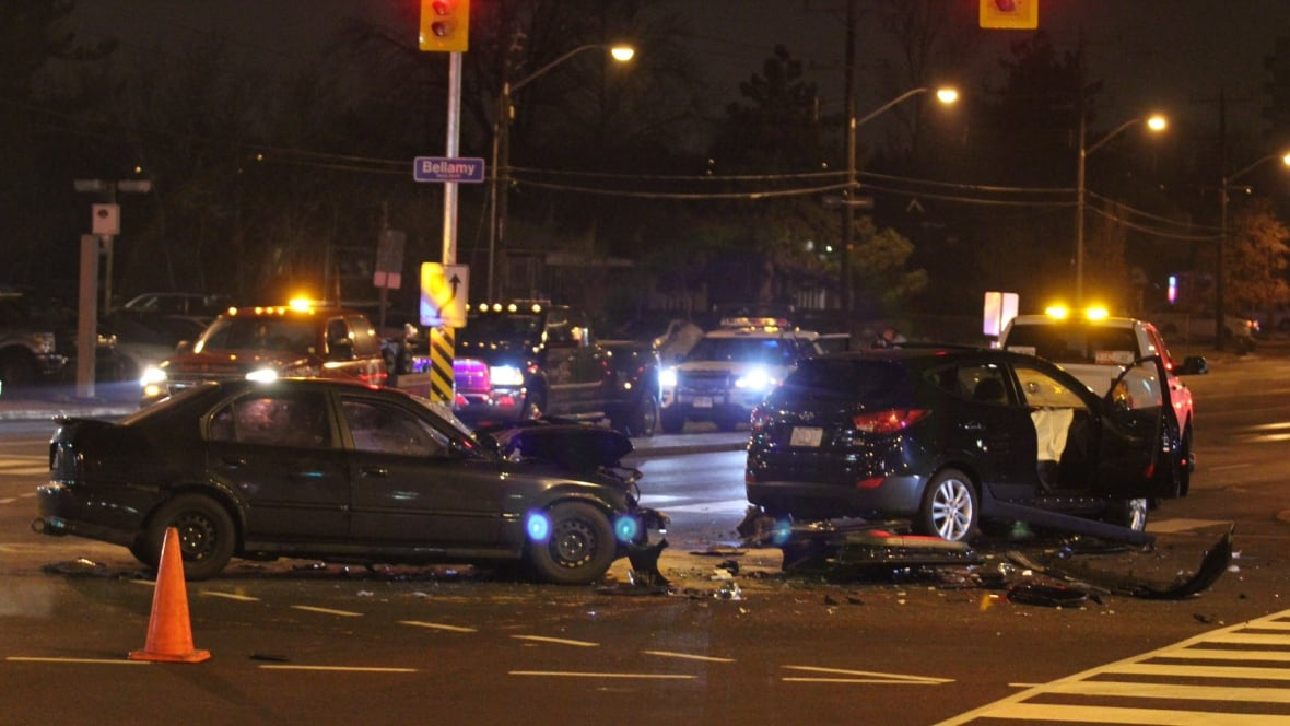 Police Cars For Sale >> Six people injured in two-car collision in Scarborough ...