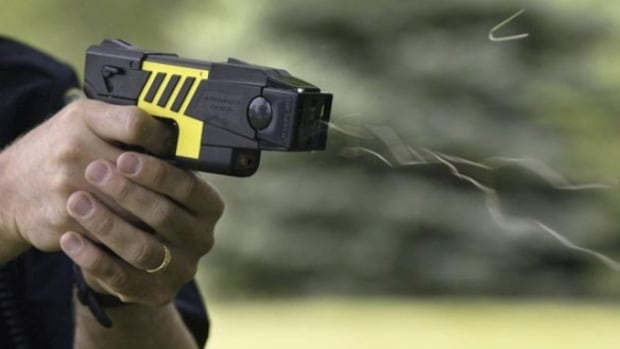 Regina police deployed a taser after an intoxicated man with a knife refused to co-operate.