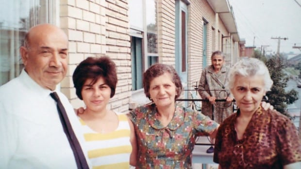 Knar Yemenidjian, right, on her first visit to Montreal in 1967 when she was in her late 50s.