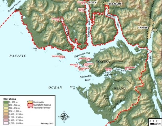 Nuchatlaht Terrirotial Lands map