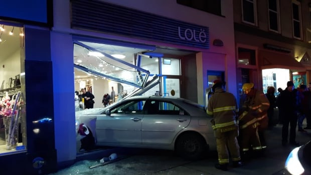 This Taxi Went Through The Storefront At Lole On Friday Evening Nobody In The Store