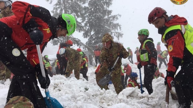 By Saturday morning, nine survivors had been pulled out of the snow-crusted debris of the Hotel Rigopiano and were recovering in the hospital as rescuers continued to dig through the debris for others.