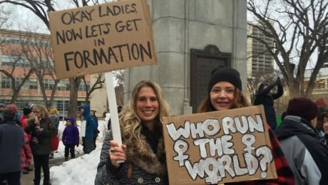 Womens march Beyonce signs