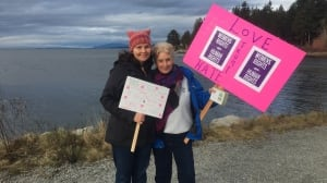 Thousands turn out for Women's marches across B.C.