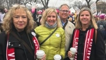 Ottawa Councillor Diane Deans at the Women's March on Washington, Jan. 21, 2017.