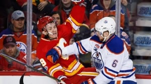 Oilers beat up on Flames, sweep season series