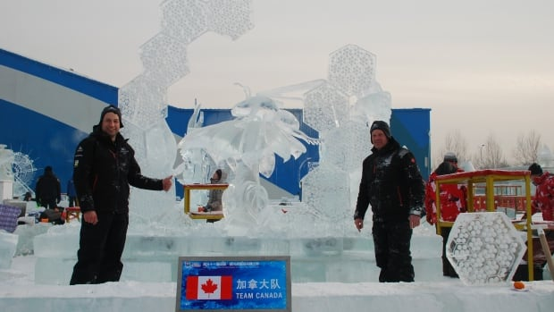 Steve Buzak (left) and Rusty Cox say they were proud to represent Team Canada at the one of the world's largest snow festivals.