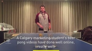 Calgary student masters beer pong with viral videos