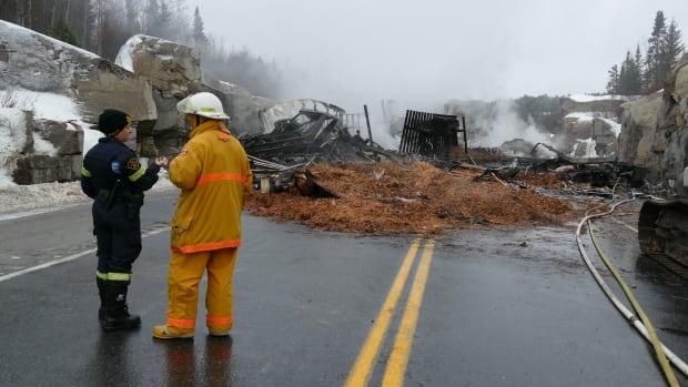 4 men injured in fiery Highway 17 crash in northern ...