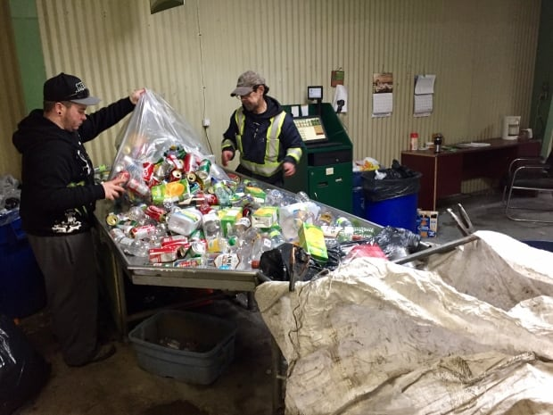 Customer drops off recycling a depot in HVGB