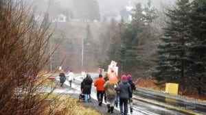 Small  women's march in N.S. village gets mighty attention