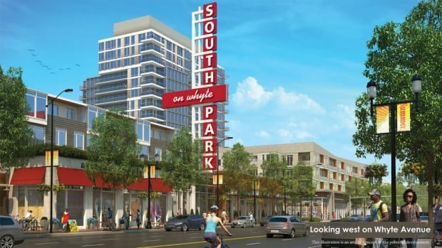 If the rezoning passes, towers like the 17-19 storey South Park one on Whyte Ave.  could be approved without a public hearing.
