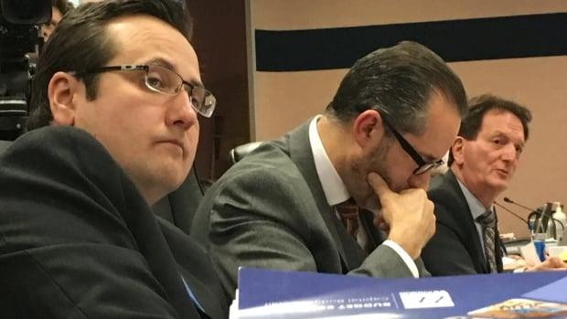 Councillors Irek Kusmierczyk, Bill Marra and Paul Borrelli during Monday's late night 2017 budget meeting.