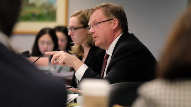 Budget Chair Gary Crawford leads the debate at Tuesday's budget committee meeting.