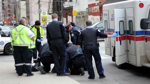 Toronto police Taser arrest