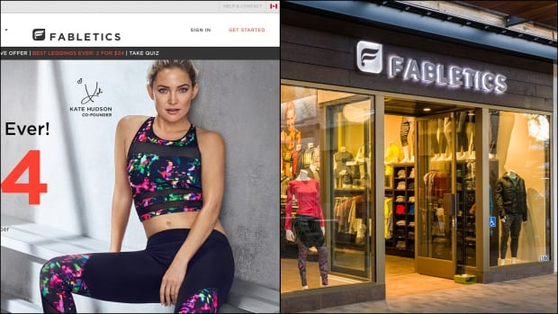 Kate Hudson's Fabletics brand of workout wear was originally only available online, but now has a number of bricks-and-mortar stores in the U.S.