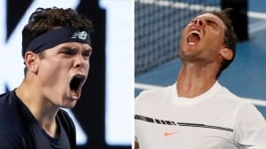Raonic, Nadal battle for semis spot at wide-open Aussie Open