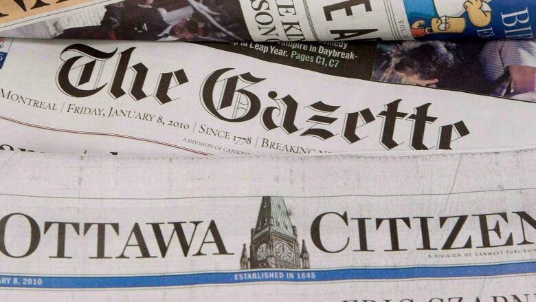 Montreal Gazette, Ottawa Citizen lose 15 positions in