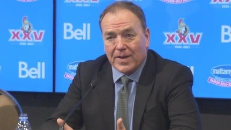 Tom Anselmi President and CEO of Ottawa Senators Jan. 25