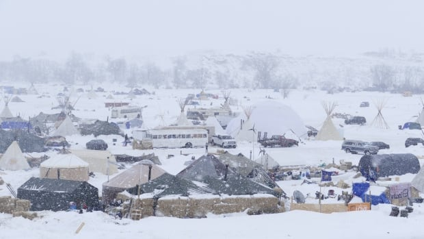 At the main camp opposing the Dakota Access pipeline north of the Cannonball River, the number of protesters of the $3.8-billion U.S. project have fallen from thousands to hundreds. But many remain undeterred despite U.S. President Donald Trump's executive memo asking that finals approvals for the pipeline be expedited.