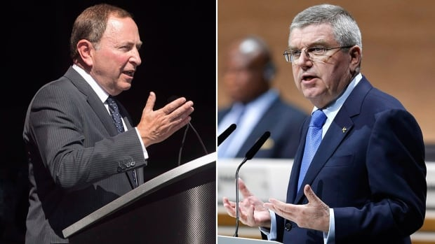NHL commissioner Gary Bettman, left, and IOC president Thomas Bach couldn't, or wouldn't, get a deal done to get the world's best hockey players to the 2018 Olympics.
