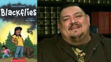 Jay Odjick with Blackflies
