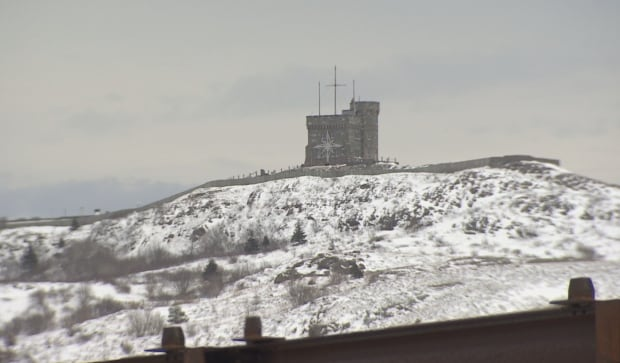 Signal Hill in St. John's seen from Alt Hotel