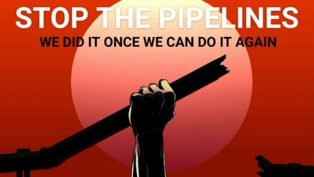A poster shared online calls on people to oppose the Dakota Access pipeline and recently revived Keystone XL pipeline.