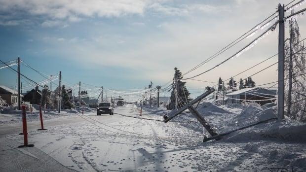 One scene from New Brunswick's ice-coated Acadian Peninsula.