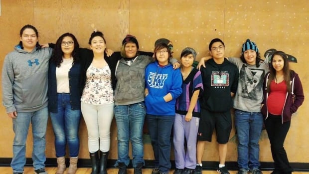 There are nine students in the Coast Tsimshian Academy's first ever Grade 12 class.