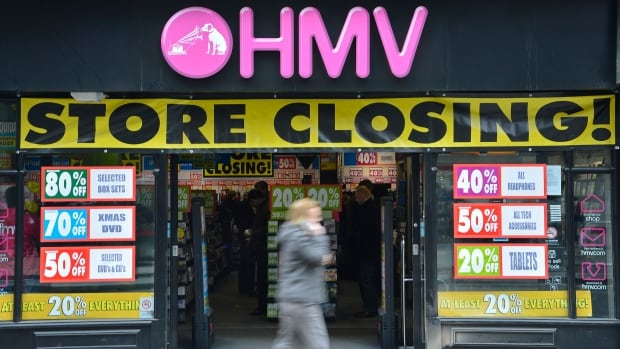 HMV Canada, which separated from its British parent company in 2011, is in receivership. According to court filings, it was losing $100,000 a day.