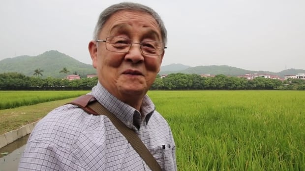Larry Grant, in a still from All Our Father's Relations, appears in the rural Chinese village where his father grew up.