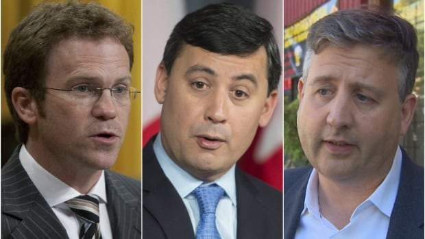 Liberal MP Scott Simms, Conservative MP Michael Chong and NDP MP Kennedy Stewart are co-editors of a book entitled, Turning Parliament Inside Out.