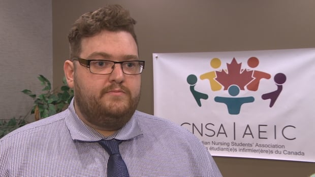 Bryce Boynton, president of the Canadian Nursing Students' Association, says the new U.S. exam students here must take does not include enough Canadian content.