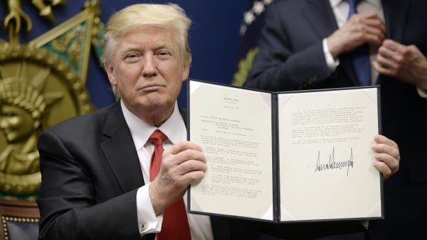 U.S. President Donald Trump signs executive orders calling for the 'extreme vetting' of visa seekers from terror-plagued countries.