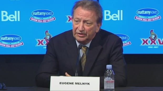 Ottawa Senators owner Eugene Melnyk is taking some heat for comments he made about relocating the arena to downtown, just as Ottawa is set to host the NHL 100 Classic.