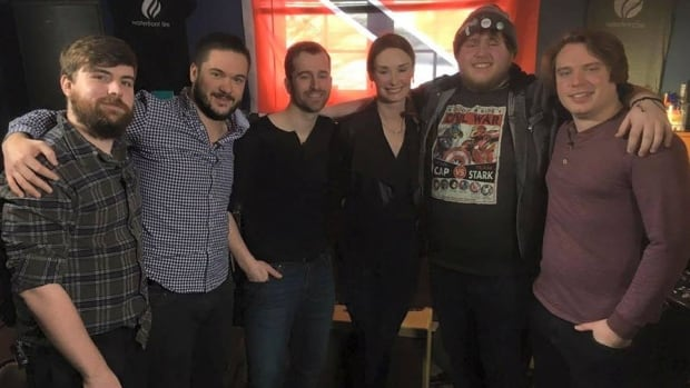 St. John's rock band Waterfront Fire told CBC's Carolyn Stokes their new song with a Trinidadian string quartet may qualify as a whole new genre.