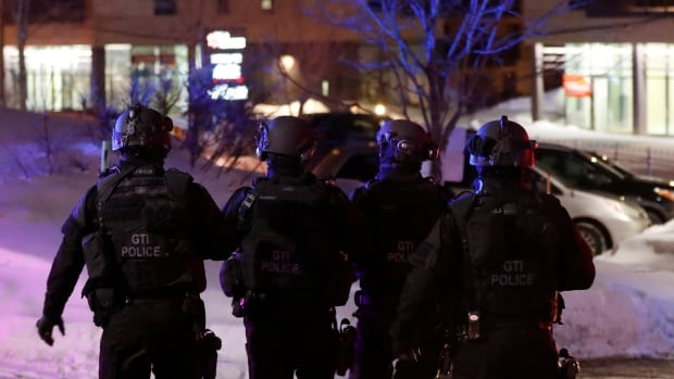 Quebec City Police said they are working with the RCMP and the Quebec provincial police.
