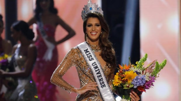 Miss France Iris Mittenaere poses after being declared winner in the 65th Miss Universe beauty pageant at the Mall of Asia Arena on Sunday near Manila, Philippines.